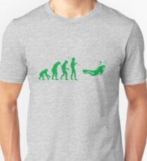 Evolution to Scuba Diver GREEN T-Shirt