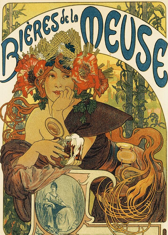 Mucha - Bieres de la Meuse by William Martin