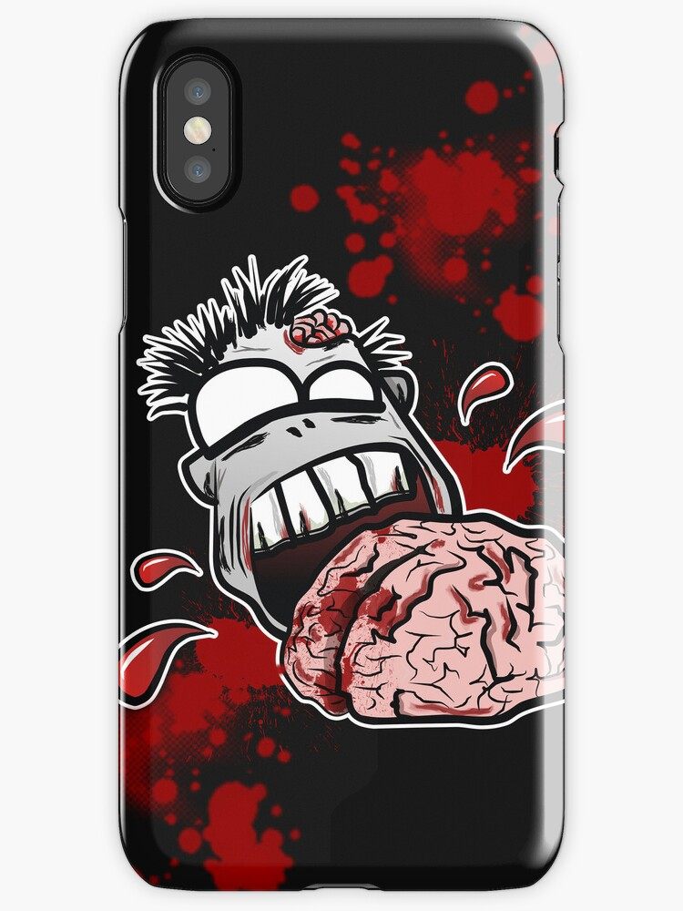Zombie Eats Brains - Zom nom nom by DangRabbit