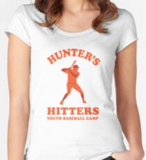 Hunter's Hitters (Orange Version) Women's Fitted Scoop T-Shirt