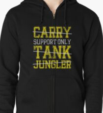 League Of Legends : Support Only shirt Zipped Hoodie