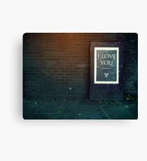 London ILY Sign Canvas Print