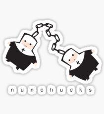 nunchucks Sticker