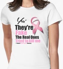 Breast Cancer Awareness They Are Fake T-Shirt