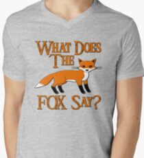 What Does The Fox Say? Men's V-Neck T-Shirt