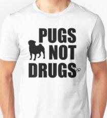 Camiseta unisex Pugs no drogas