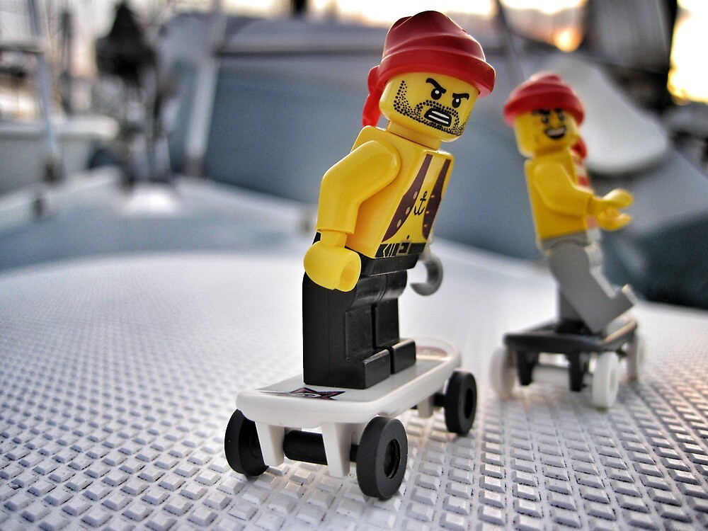 Pirate Practice: Skateboarding by bricksailboat