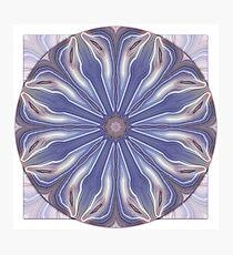 Slice of Blue Agate Mandala Photographic Print