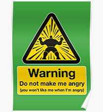 Don't Make Me Angry Poster