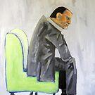 guerilla portrait - man in coffee house by bjorksboy