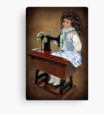 ✿♥‿♥✿ SEWING IS WHAT I LIKE TO DO -DOLL & SEWING MACHINE ✿♥‿♥✿ Canvas Print