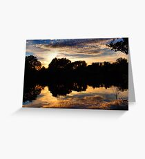Sunset reflects on lake Greeting Card