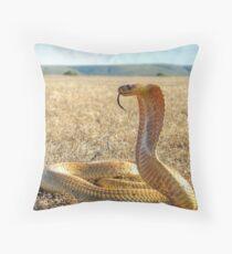 Cape Cobra Throw Pillow