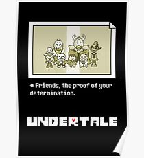Póster Undertale characters
