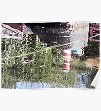 Reflections - Bondville Model Village harbour Poster
