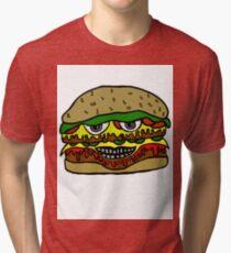 HIGH CHEESEBURGER Tri-blend T-Shirt