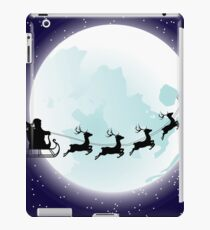 Flying Santa and Full Moon iPad Case/Skin
