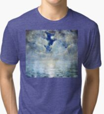 Moonlight Seascape Tri-blend T-Shirt