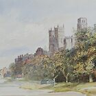 Watercolour of Durham Cathedral, 19th century by NorthantsPast