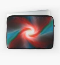 Red and blue abstract swirl Laptop Sleeve