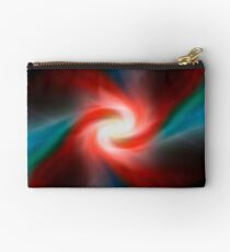 Red and blue abstract swirl Studio Pouch