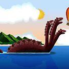 The escape from three-headed sea monster by murtazarizvi86
