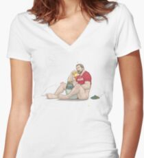 Pooh Bear Women's Fitted V-Neck T-Shirt