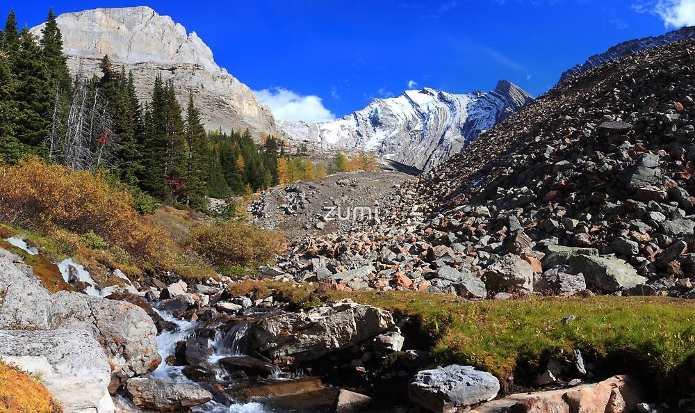 Arethusa creek and peaks II by zumi