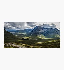 Mountains of Glencoe from the Devils Staircase, Scotland Photographic Print