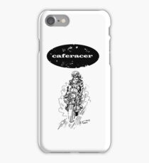 Black and white caferacer motorbike (1) iPhone Case/Skin