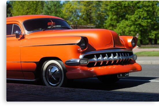 Orange American Car  by mrivserg