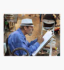 The cartoonist at Piazza Navona Photographic Print