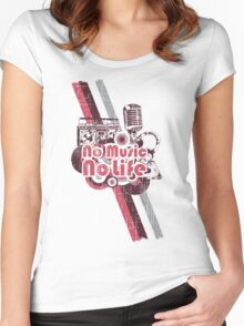No Music No Life! Women's Fitted Scoop T-Shirt