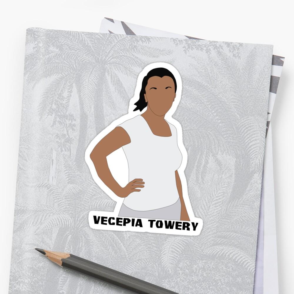 """Vecepia Towery"" Sticker by katietedesco | Redbubble"