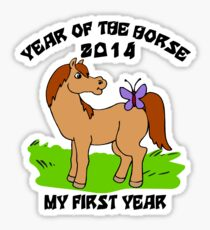 Born Year of The Horse Baby 2014 Sticker