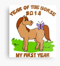 Born Year of The Horse Baby 2014 Metal Print