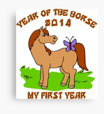 Born Year of The Horse Baby 2014 Canvas Print