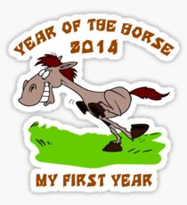 Born 2014 Year of The Horse Baby Sticker
