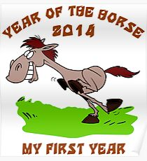 Born 2014 Year of The Horse Baby Poster