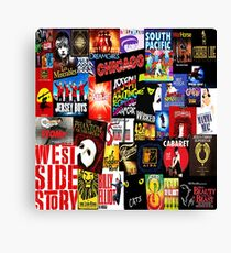 Broadway Collage Canvas Print