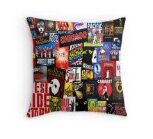Broadway Collage Throw Pillow