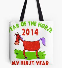 Born Year of The Horse 2014 Baby Tote Bag
