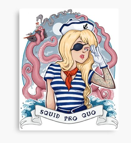 Squid Pro Quo Canvas Print