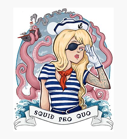 Squid Pro Quo Photographic Print
