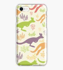 Jumping kangaroos pattern iPhone Case/Skin