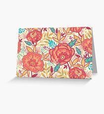 Bright garden pattern Greeting Card