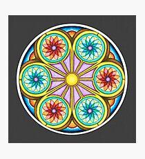 Portal Mandala - Print w/grey background Photographic Print