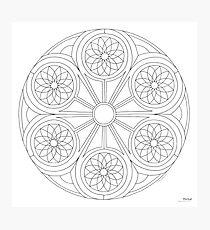 Portal Mandala - Print - Paint/Color Your Own Photographic Print