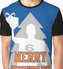 Merry Kristaps - Blue Graphic T-Shirt