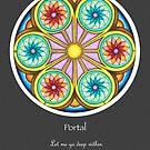 Portal Mandala - Poster w/Message and Grey Background by TheMandalaLady